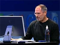 Steve Jobs achter Intel-Apple tijdens WWDC 2005 keynote