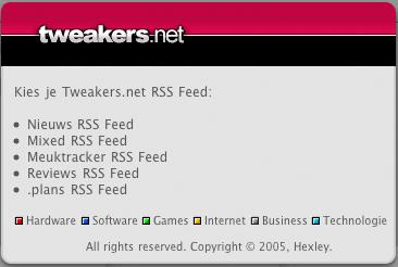 Hexley's Tweakers.net widget