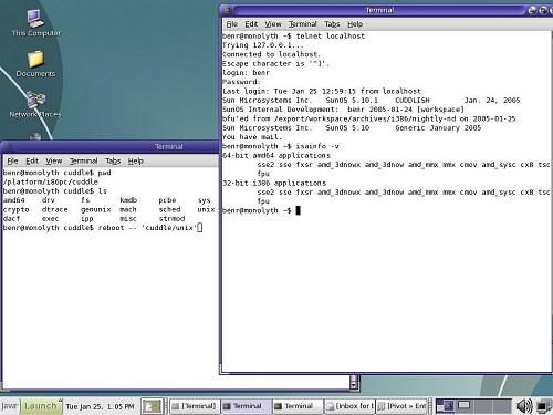 OpenSolaris screenshot (klein)