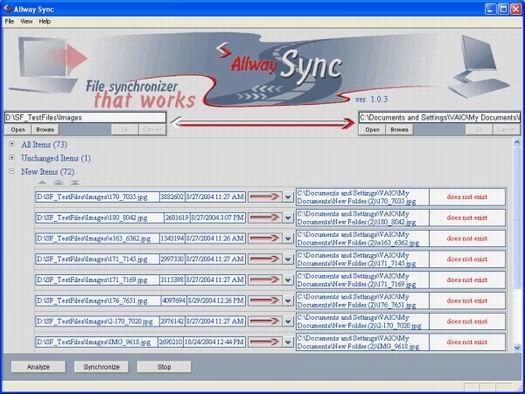Allway Sync screenshot (resized)