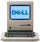 Macintosh met Dell-logo