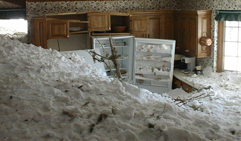 Avalanche/lawine in huis