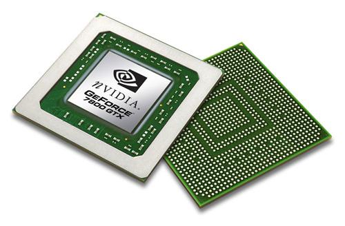 nVidia GeForce 7800 GTX GPU (G70 - voorkant en achterkant)