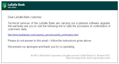 ABN Amro Phishing Mail