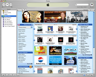 Apple iTunes 4.8 screenshot (klein)