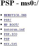 PSP Webserver