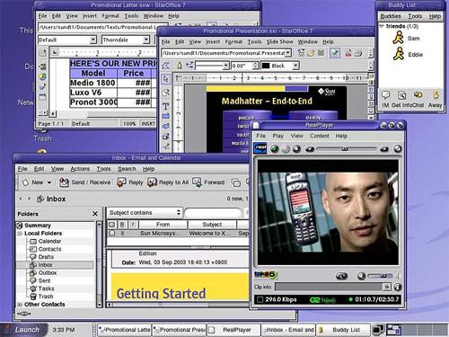 Sun Java Desktop System (klein)