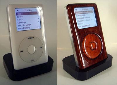 Houten iPod (vergeleken met standaard model)