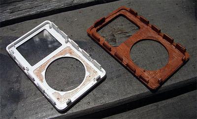 Houten iPod (werk in uitvoering)