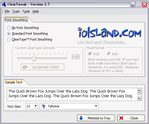 ClearTweak 2.7 screenshot