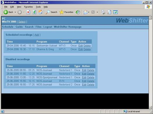 WebShifter screenshot (resized)