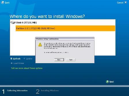 Windows Longhorn build 5203 screenshot installatie 2 (klein)
