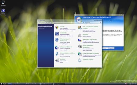 Windows Longhorn build 5203 screenshot desktop configuratiescherm (klein)