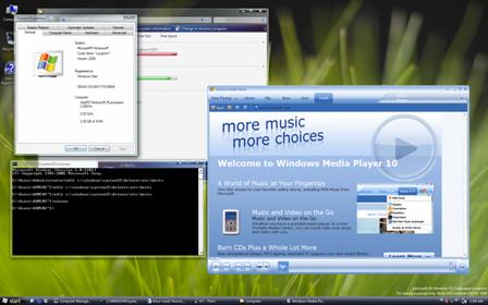 Windows Longhorn build 5203 screenshot desktop mediaplayer (klein)