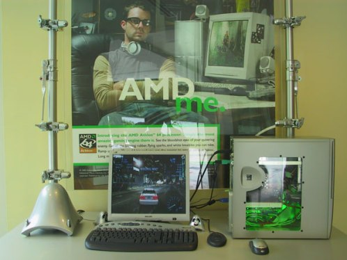 AMD promo-opstelling in Singapore