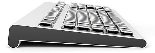 Optimus keyboard – side view