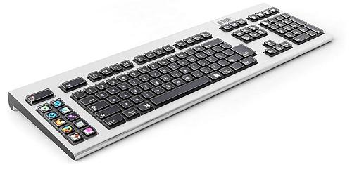 Optimus keyboard - driekwartaanzicht