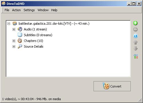 DivxToDVD 2 screenshot