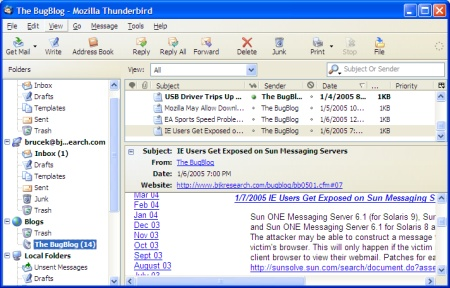 Mozilla Thunderbird screenie