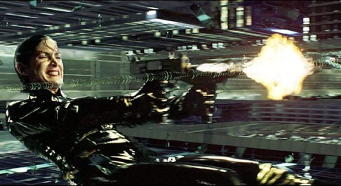 The Matrix bullet-time Trinity