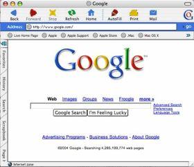 niet bestaande Google-browser
