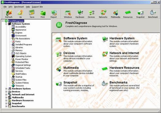 Fresh Diagnose 7.05 screenshot (resized)