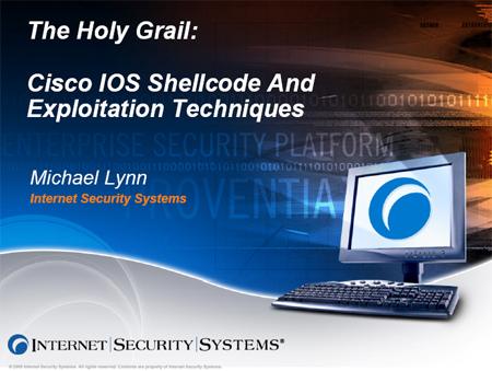 Frontpagina Lynns presentatie Cisco-bugs