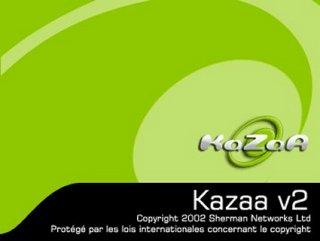 Kazaa startscherm
