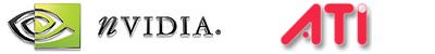 nVidia en ATi logo's