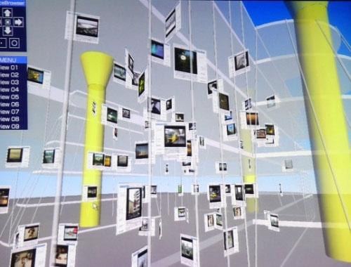 NTT 3D-browser - screenshot