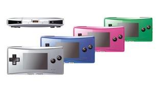 GameBoy micro in vier kleuren (klein)