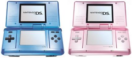 Nintendo DS in kleuren blauw en roze