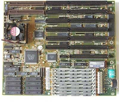 486-moederbord met VLB- en ISA-slots