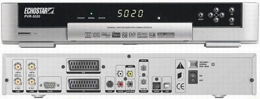 EchoStar PVR-5020 voor- en achterkant