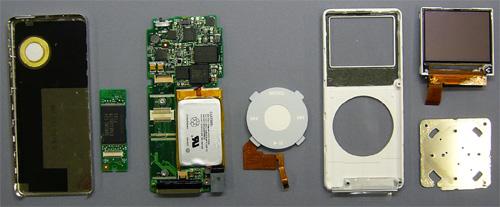 iPod nano - onderdelenoverzicht