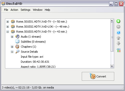 DivxToDVD 1.99.14 screenshot