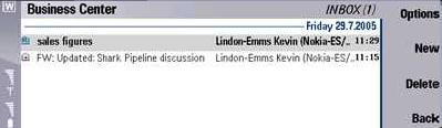Screenshot uit Nokia Business Center demo