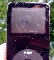 iPod nano met beschadigde display