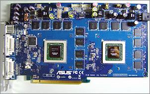 Asus videokaart met tweemaal GeForce 7800 GT