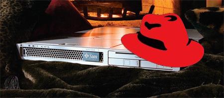 Sun-server met rode hoed