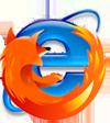 Firefox en Internet Explorer broederlijk in elkaars armen