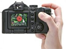 Panasonic FZ30 in hand