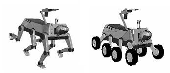 Concept van Zuid-Koreaanse gevechtsrobot