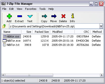 7-Zip 4.28 beta screenshot