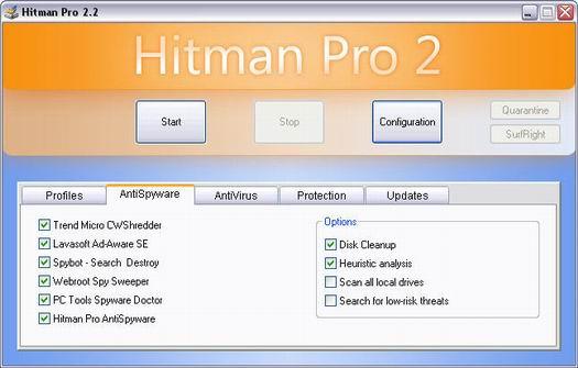 Hitman Pro 2.2 screenshot