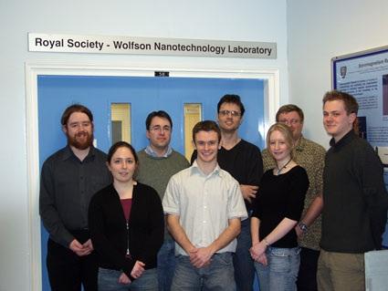 Leden van het Nanoscale Science and Technology team van de Universiteit van Durham