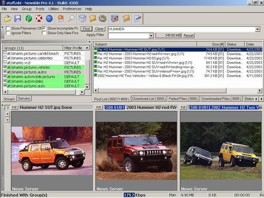 NewsBin Pro screenshot (resized)