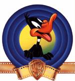Warner Bros' Daffy Duck met een blauwe schijf