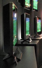 SED-monitor op presentatie van Canon - kijkhoek