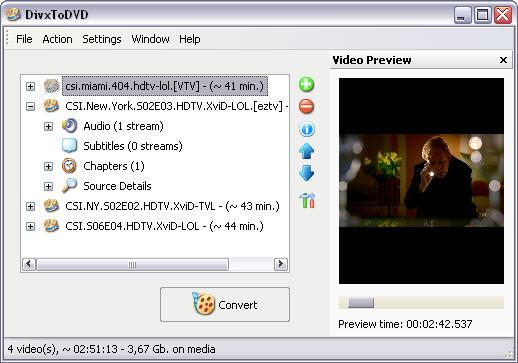 DivxToDVD 2 1.99.20d screenshot